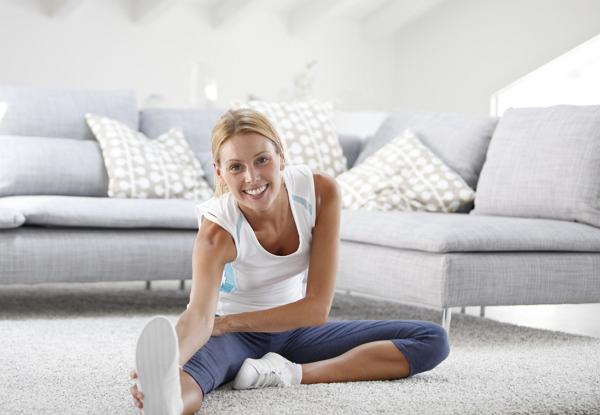 Übungen klappt Fitness zu Hause