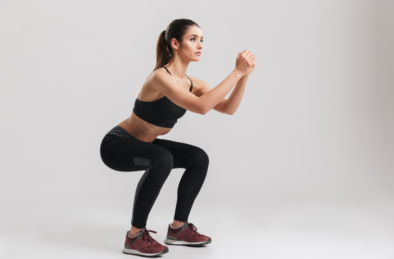 Workout zuhause Squats